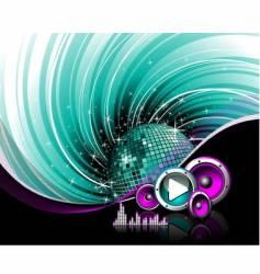 dj dance floor vector image
