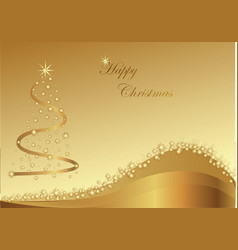 gold christmas abstraction with stars on the gold vector image vector image