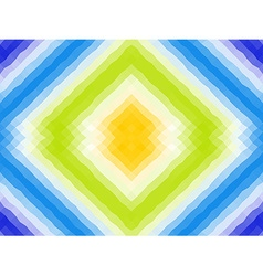 Polygonal mosaic with bright color ornament vector image