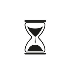 sand time clock icon vector image