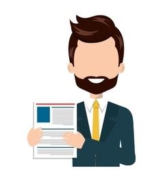 businessman with curriculum vitae vector image