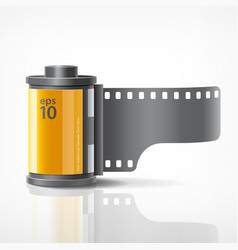 camera film roll vector image vector image