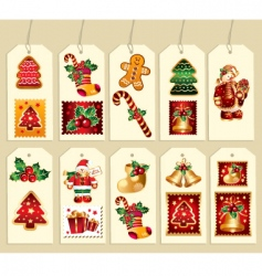 collection of new year labels vector image vector image