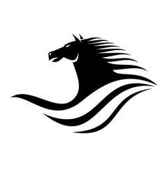 Dynamic horse head icon vector image vector image