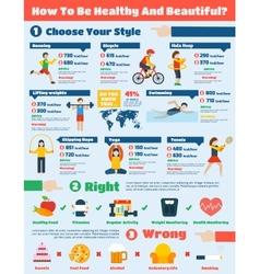 Fitness Infographics Set vector image