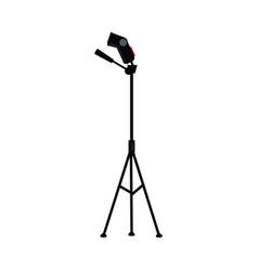 flat studio flash light at tripod vector image vector image