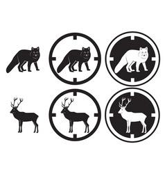 fox and deer vector image