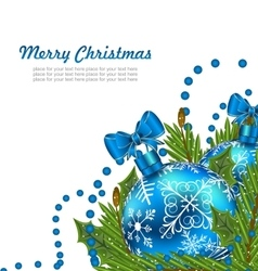 Greeting Postcard with Christmas Balls vector image