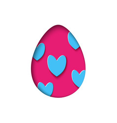 isolated egg in paper cut style for banner vector image