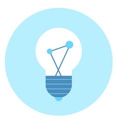 light bulb icon lamp illumination concept vector image