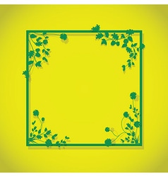 lime green floral box vector image vector image