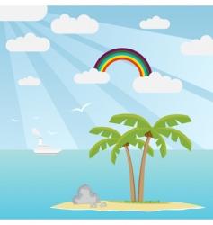 lost island vector image