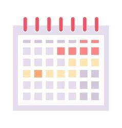 Calendar icon icon vector image