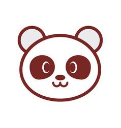 cute panda face image vector image