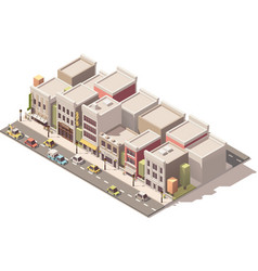 isometric small town street vector image vector image