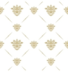 Oriental pattern with arabesque vector image