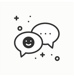 speech bubble line icon conversation chat dialog vector image