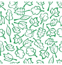 Spring green trees and bushes seamless pattern vector image vector image