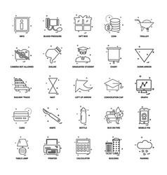 25 business concept mix line icon set vector