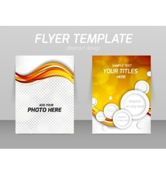 Abstract flyer template design vector image vector image