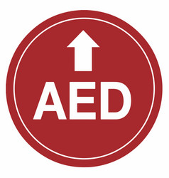 aed arrow up floor sign eps 10 vector image
