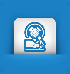 agreement on road accident vector image