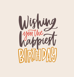 banner template with wishing you the happiest vector image