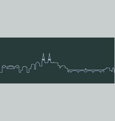 Basel single line skyline vector