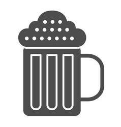 beer mug solid icon beverage vector image