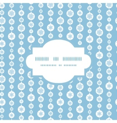 Blue and white snowflakes stripes frame seamless vector