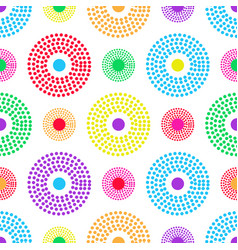 bright seamless pattern of colorful concentric vector image