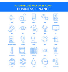 Business finance icons - futuro blue 25 icon pack vector