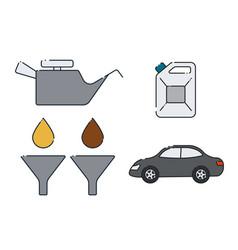 car oil change design vector image