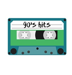 Cassette 90s vector
