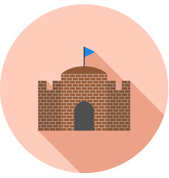 Castle with flag vector