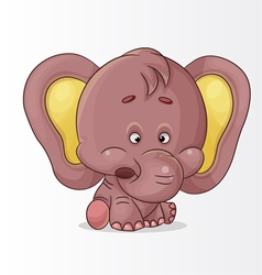 character elephant vector image