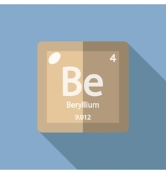 Periodic table element beryllium icon royalty free vector chemical element beryllium flat vector image urtaz Image collections
