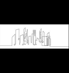 city landscapes line vector image