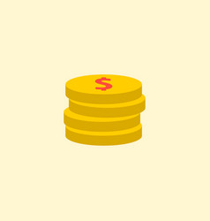 coin icon flat element of vector image