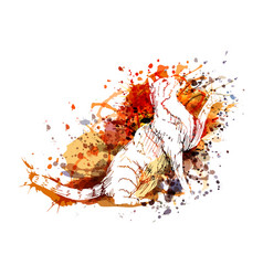 Color of a cat vector
