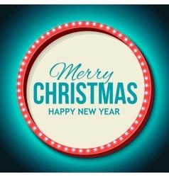 Congratulation to Christmas with Night retro vector image