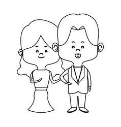 couple of young people man and woman hold hands vector image