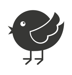 cute bird silhouette isolated icon design vector image