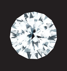 diamond on a black background vector image
