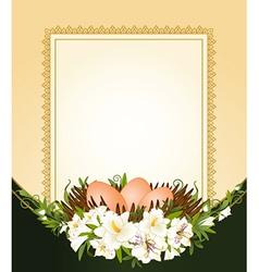 Easter frame border vector image