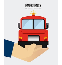 Emergency design vector image