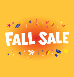 fall sale banner poster vector image