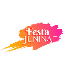 festa junina holiday greeting background vector image