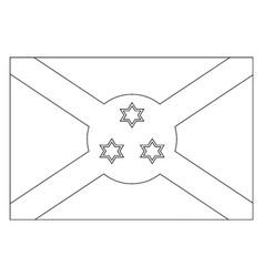 Flag of burundi 2009 vintage vector
