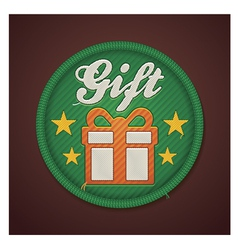 Gift fabric badge vector